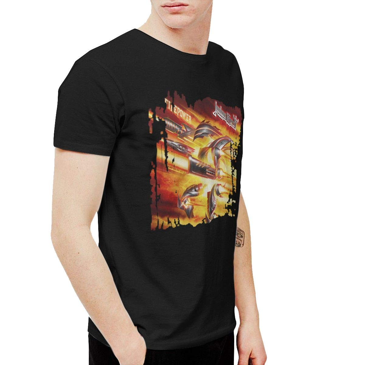 Geneva F Judas Priest Firepower Men's Short Sleeve Tees Black