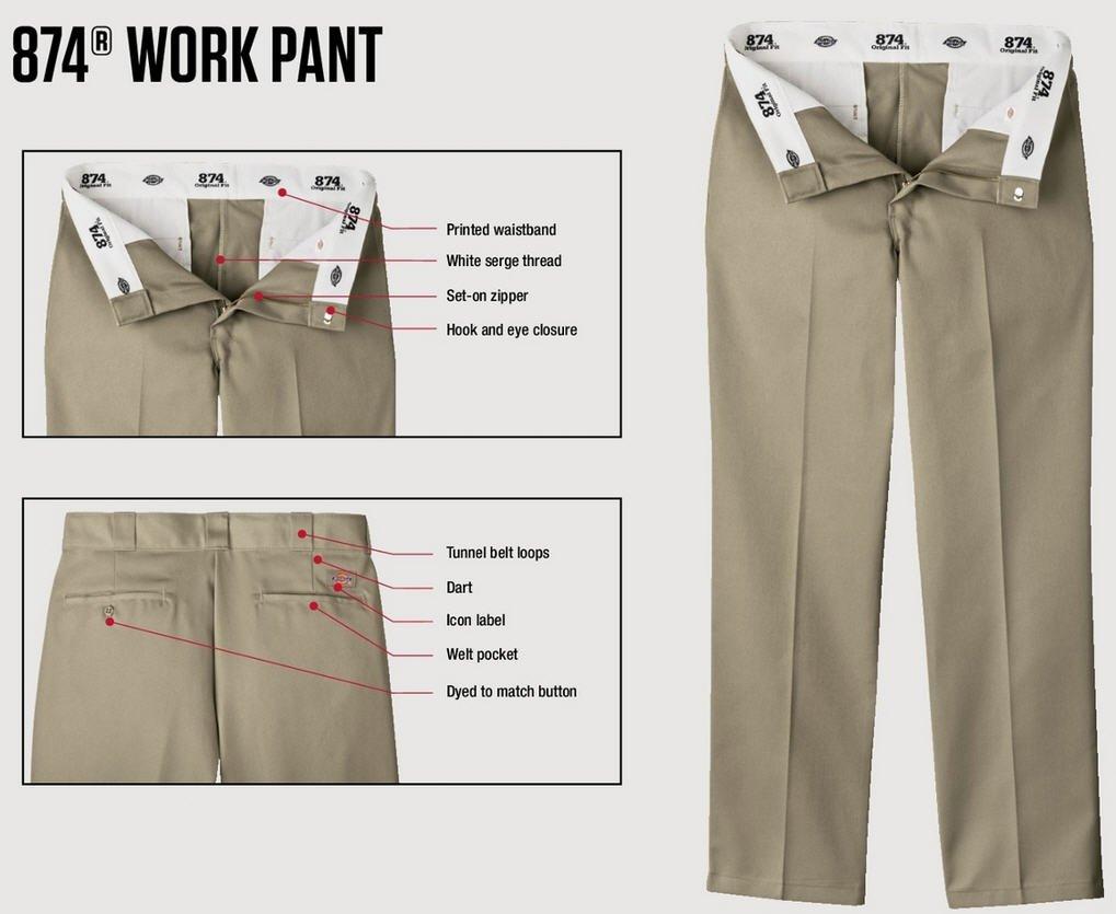 Dickies 874 Mens 8.5 oz Twill Work Pant - CHARCOAL - 32x32