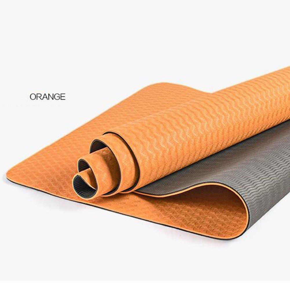 Anti-Rutsch-Yoga-Matte --- Umwelt hohe elastische rutschfeste TPE Yogamatten, sieben Farben optional --- Naturkautschuk Yoga-Matte, für Training   Pila