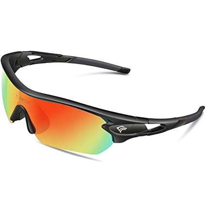 5fc3da5f6a2 TOREGE Polarized Sports Sunglasses with 5 Interchangeable Lenes for Men  Women Cycling Running Driving Fishing Golf