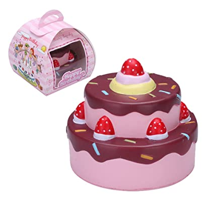Rosybeat Birthday Cake Squishies Slow Rising Jumbo Squishy Strawberry Scented Kids Squeeze Toys Vlampo 2
