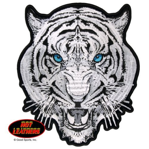 (Hot Leathers, WHITE TIGER, Exceptional Quality Iron-On / Saw-On, Heat Sealed Backing Rayon PATCH - 3