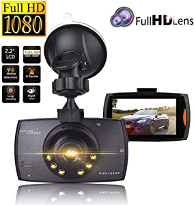 """DFFFGGX Dash Cam, 1080P Car DVR Dashboard Camera Full HD 2.2"""" Cycle Recording Night Vision Wide Angle and Motion Detection"""