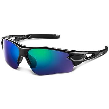 Gafas de Sol Polarizadas - Bea·CooL Gafas de Sol Deportivas Unisex Protección UV con Monturas Ligeras para Esquiando Ciclismo Carrera Surf Golf ...