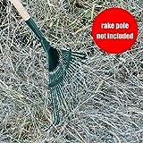 "Metal Rake Head Garden Landscape Cultivator - Large 16"" Head"