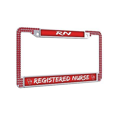 Amazon.com: Marco de matrícula para enfermera, marco de ...