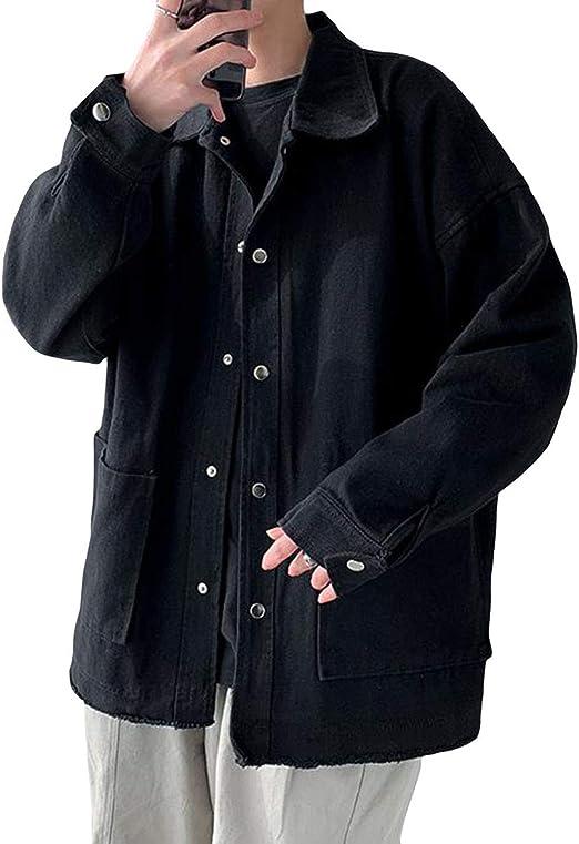 YiTongメンズ Gジャン ゆったり デニムコート アウター カジュアル 春秋 ブルゾン メンズ ジャケット ジージャン 長袖 デニムジャケット アウター