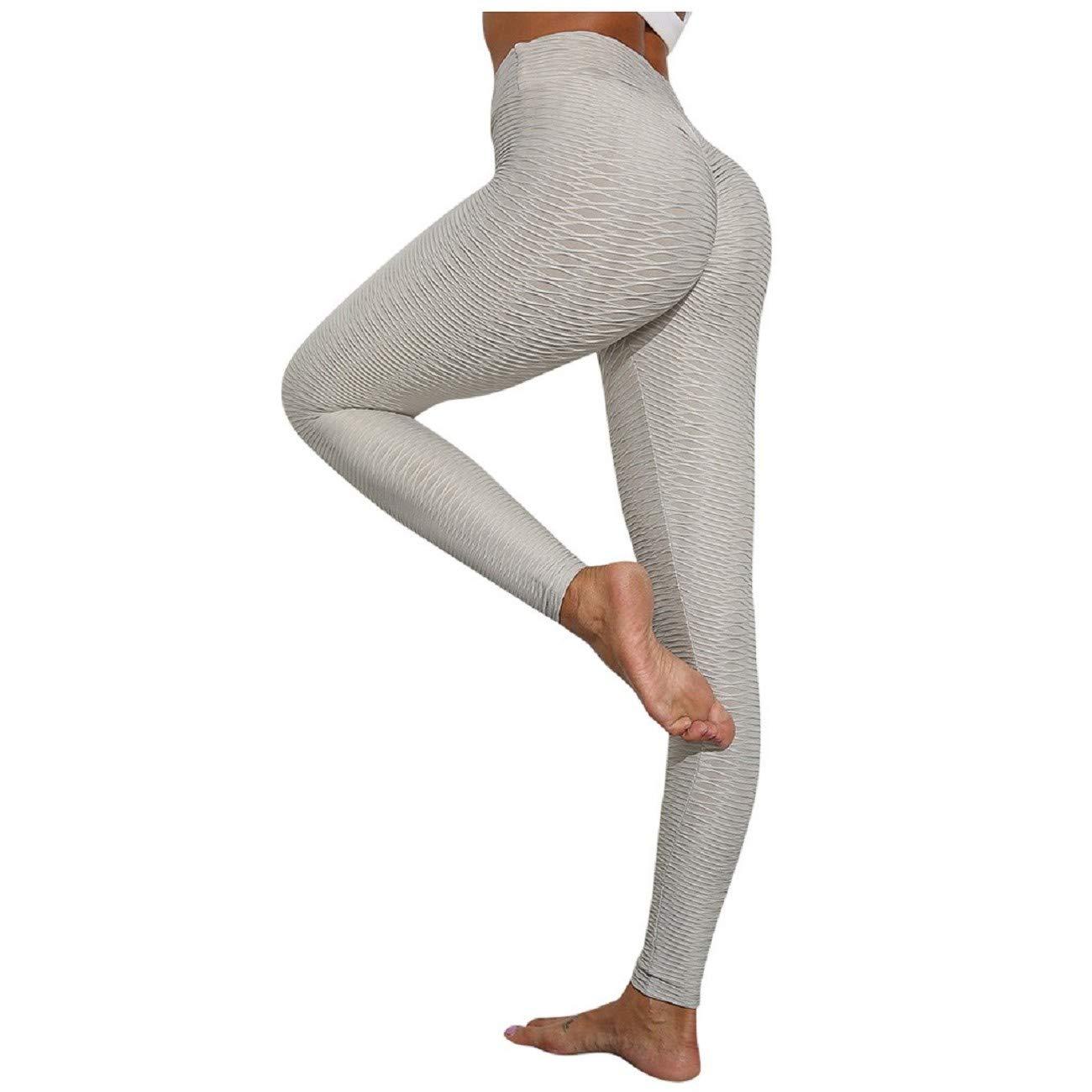 Tsmile Women High Waist Yoga Pants Cozy Stretch Luscious Tummy Control Ruched Slim Fit Leggings Butt Lift Tights