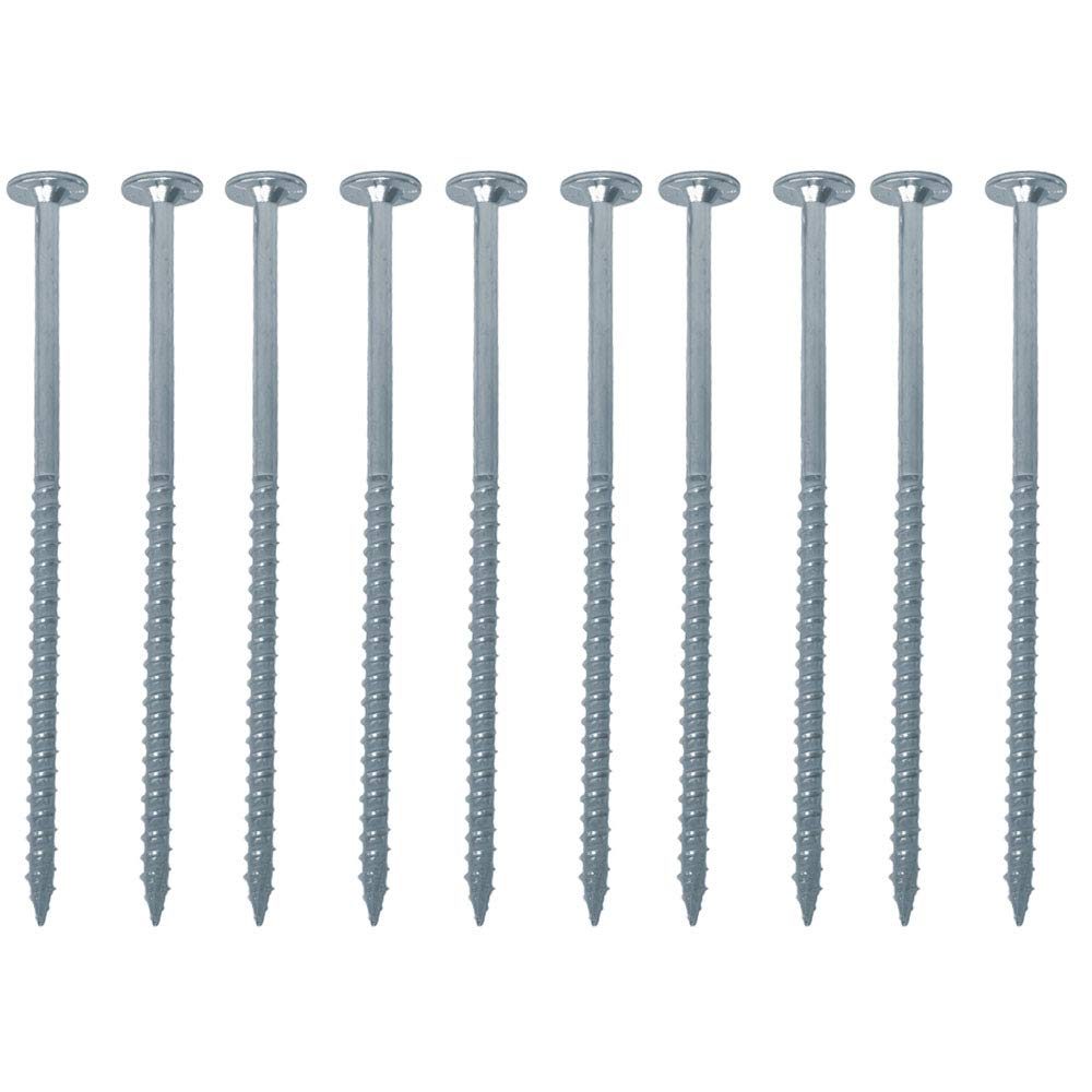 FastCap PowerHead Screws Zinc Finish 2 Self-Tapping Oversized Flat Head Wood Screw with T20 Torx Drive 50-Pack 80897