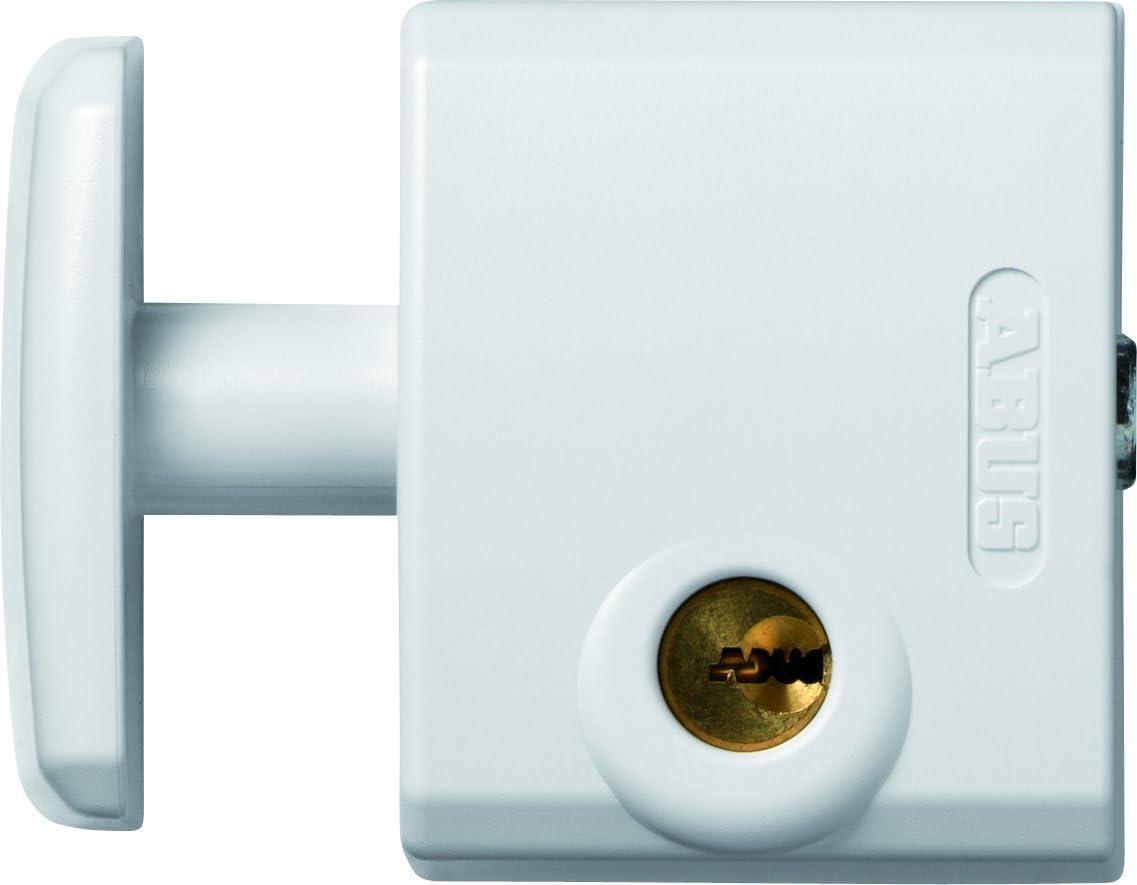 Abus FTS 3002 W EK - Cerrojo de presión para ventana o puerta corredera blanco