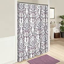 Marble Hill 16251SHWR072MAU Royal Meadow 72-Inch by 72-Inch Shower Curtain, Mauve
