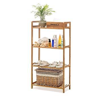 Einfache stehend Regal Badezimmer Holz Organisation Speicher Rack ...