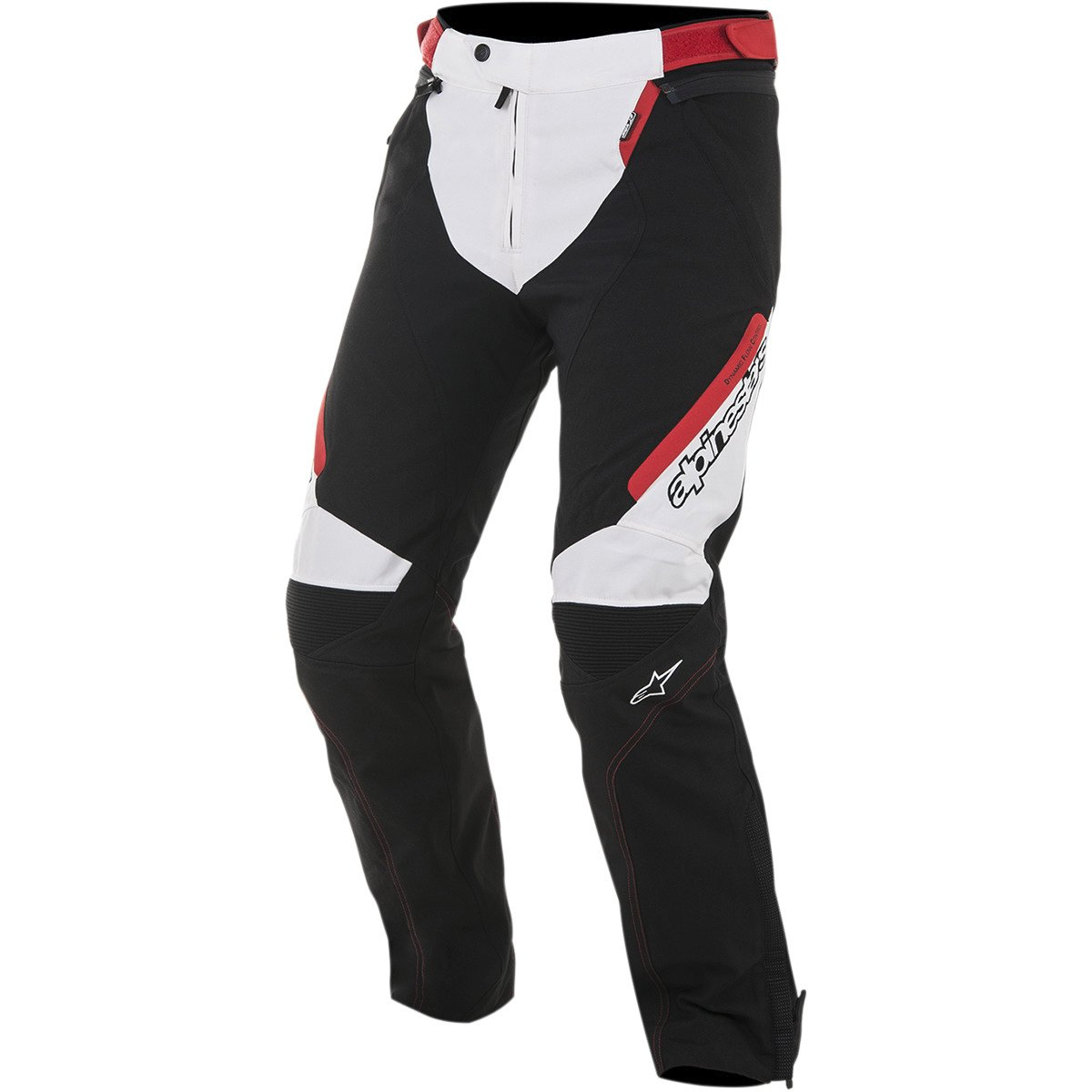Alpinestars Raider Drystar Men's Sports Bike Motorcycle Pants - Black/White/Red / X-Large