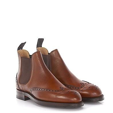 a6d350c4b0d9b0 Chelsea Boots Newbury Budapester Leder Braun Scotchgrain Goodyear Welted