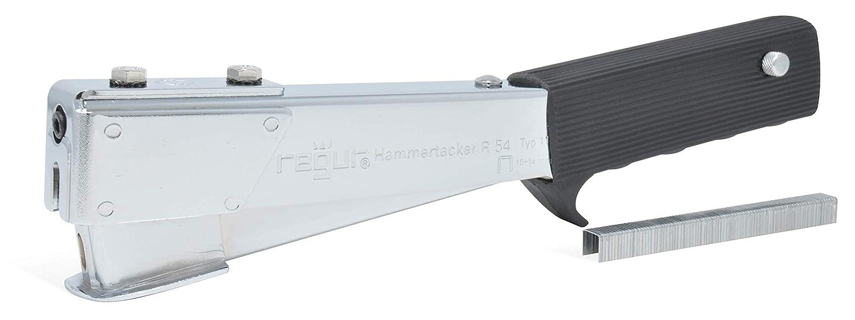 inkl REGUR Hammertacker 54 robuster Schlagtacker mit verbreiterter Aufschlagfl/äche 5000 St/ück Regur Typ 11//10mm Flachdraht-Klammern zur Befestigung von Dachpappen Teerpappe Folien