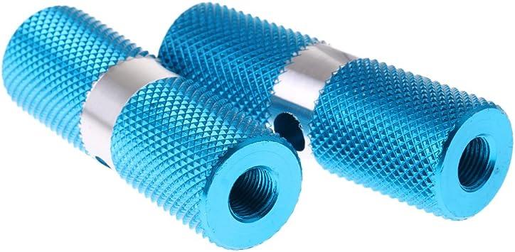 Aluminiumlegierung Zylinder Bmx Vorderachse Hinten Fußrasten Fahrrad Blau