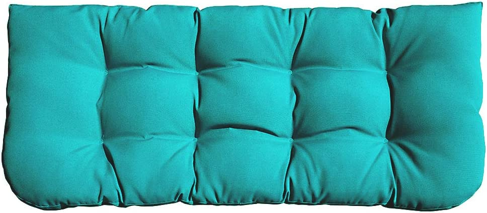 Sewker Indoor Outdoor Tufted Swing Bench Cushions 44 X19 For Wicker Loveseat Porch Swing Cushions Patio Chair Furniture Replacement Cushion Green Garden Outdoor