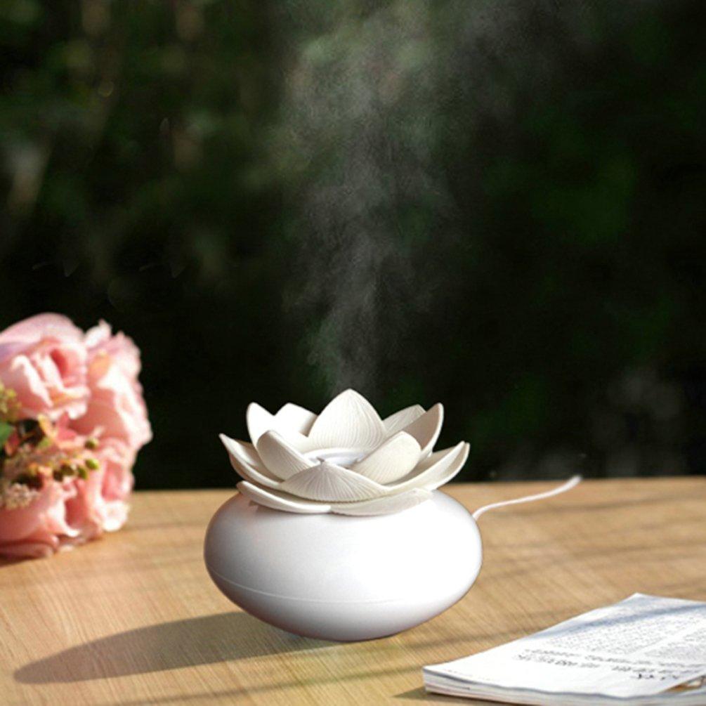 Yjy ceramic aromatherapy essential oil diffuser lotus flower yjy ceramic aromatherapy essential oil diffuser lotus flower humidifier portable for office usb auto shut off izmirmasajfo