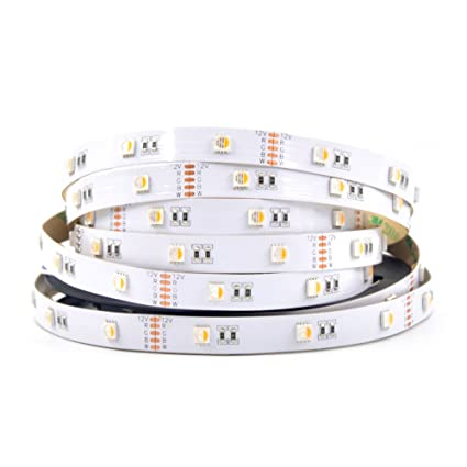 wixure 4 colors in 1 rgbw led strip light rgb warm white 2800k