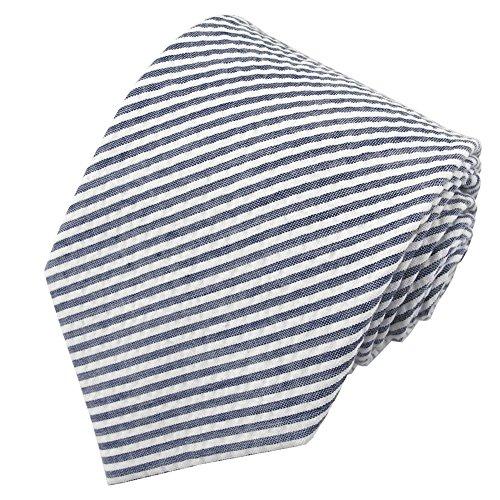 Jacob Alexander Boys' Prep Seersucker Self-Tie Neck Tie - Navy Blue