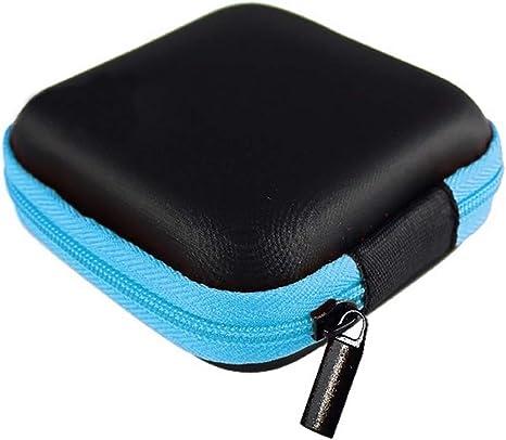 LKXHarleya Estuche para Auriculares, Estuche para Auriculares Estuche PortáTil para Auriculares Estuche PequeñO para Auriculares, Bolsa De Almacenamiento PortáTil para MP3, USB, Cuadrado, Azul: Amazon.es: Electrónica