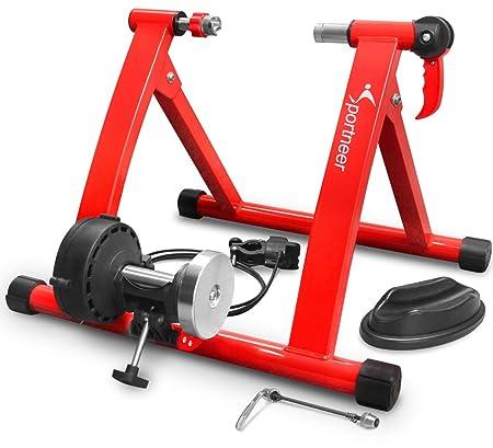 Sportneer 自転車トレーニング サイクルトレーナー 6段階 折りたたみ 固定式 静音 マグネット式