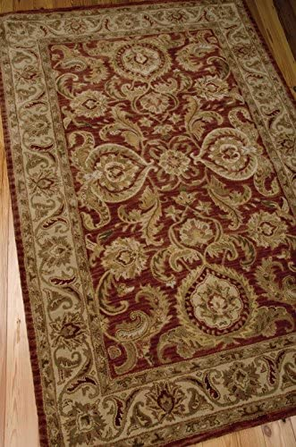 Nourison Jaipur Cinnamon Rectangle Area Rug, 7-Feet 9-Inches by 9-Feet 9-Inches 7 9 x 9 9