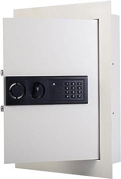 LHONE Digital Flat Recessed Wall Safe Keypad Home Security Cash Box Electronic PIN Key Lock