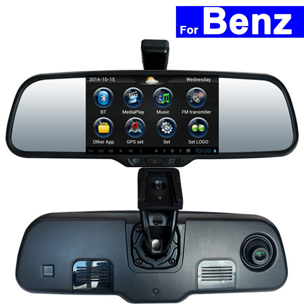 szss-car Android Car Rear View Mirror DVR GPS Bluetooth WIFIスマートb200 forメルセデスベンツa160 C E GLKシリーズタッチ画面自動モニタ 2 Pcs 8GB SD Card ブラック SZSS-CRVM B077Q9D85R  Type# 37 2 Pcs 8GB SD Card