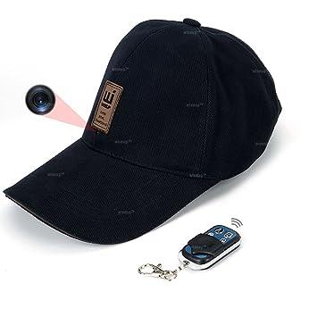 Wiseup 8 GB 1080P HD - Gorra de béisbol sombrero cámara espía con mando a distancia Attached: Amazon.es: Electrónica