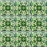 """Color y Tradicion 9 Mexican Tiles 4"""" x 4"""" Hand Painted Hallowen Talavera Day of The Dead Dia de Muertos C397"""