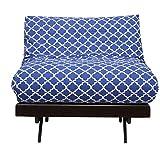 Arra Single Futon Sofa Cum Bed With Mattress - Damask