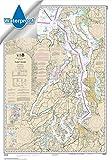 NOAA Chart 18440: Puget Sound, 29.5 X 42.3, WATERPROOF
