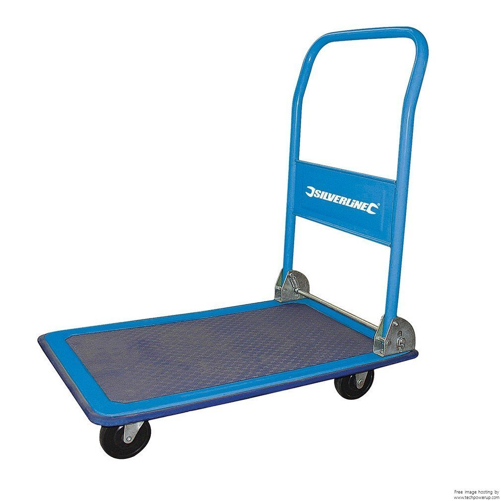 Silverline 675213 Folding Platform Trolley 100kg Load Capacity SLTL4