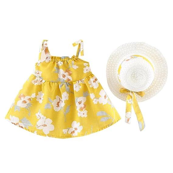 Vestido Para Bebé NiñAs DRESS Start® Vestido Linda ImpresióN Sin Mangas Vestido De La Honda