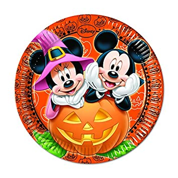 Amazon.com | Procos S.A. Mickey Mouse Halloween Dinner Plates ...