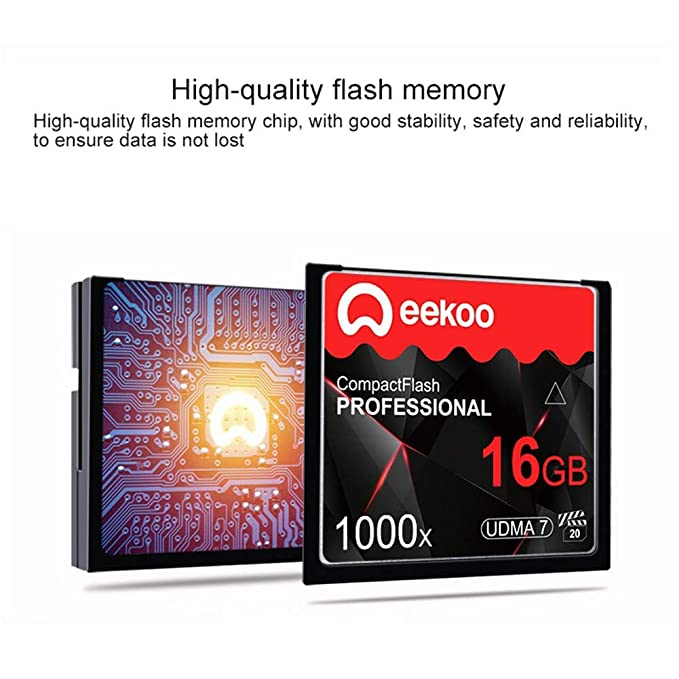 LAY Tarjeta CF Tarjeta de Memoria de cámara Digital 16G 1000X ...