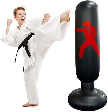 Child Adult Inflatable Boxing Punching Bag Tumble Sandbag Fitness Training UK