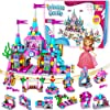 Best Epic Trends 61ChRiywNfL._SS100_ Catcrafter Princess Castle Kids Girls Toys - STEM Toy Construction Building Blocks Playhouse Doll House Birthdays Gifts…