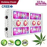 Cheap LED grow light full spectrum for indoor plants veg and flower CREE dimmable COB 12-band UV&IR MaxBloom high yield 800W CREE X8 Plus professional led grow light for marijuana (2017 New Design)