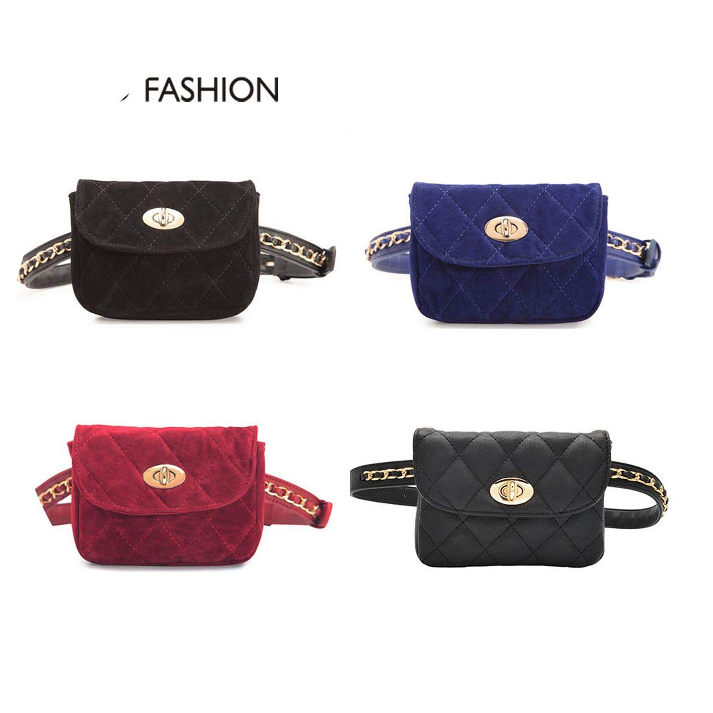 Women Waist Belt Bag Chain Belt Pack Waist Bag P Small Women Bag Travel Bag Waist Pack Bolsas