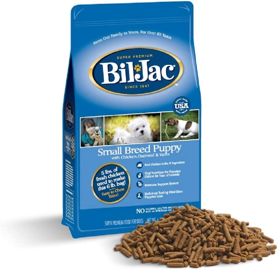 Bil-Jac Puppy Food Small Breed Formula Dry Dog Food 6 lb Bag - Chicken, Oatmeal & Yams - Super Premium Since 1947