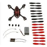 Ersatzteil-set Hubsan X4 H107C RC Quadrocopter rot+schwarz