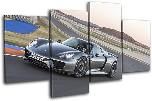 Porsche 918 Supercar Cars SINGLE CANVAS WALL ART Picture Print