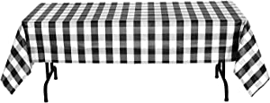 Havercamp Black and White Plaid Table Cover | 54