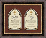 Faithworks Pastor & Pastor's Wife Framed Wall/Tabletop Art, 17 x 14-Inches, Pastor's