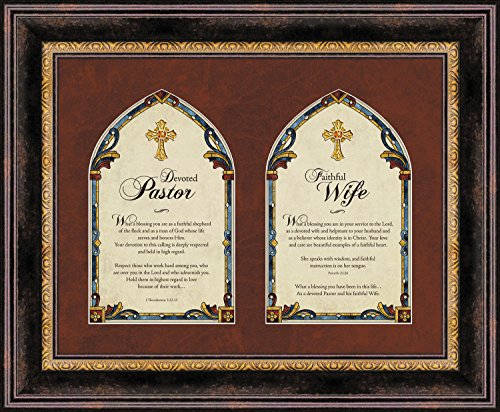 Faithworks Pastor Pastor s Framed Wall Tabletop Art, 17 x 14-Inches, Pastor and Pastor s Wife