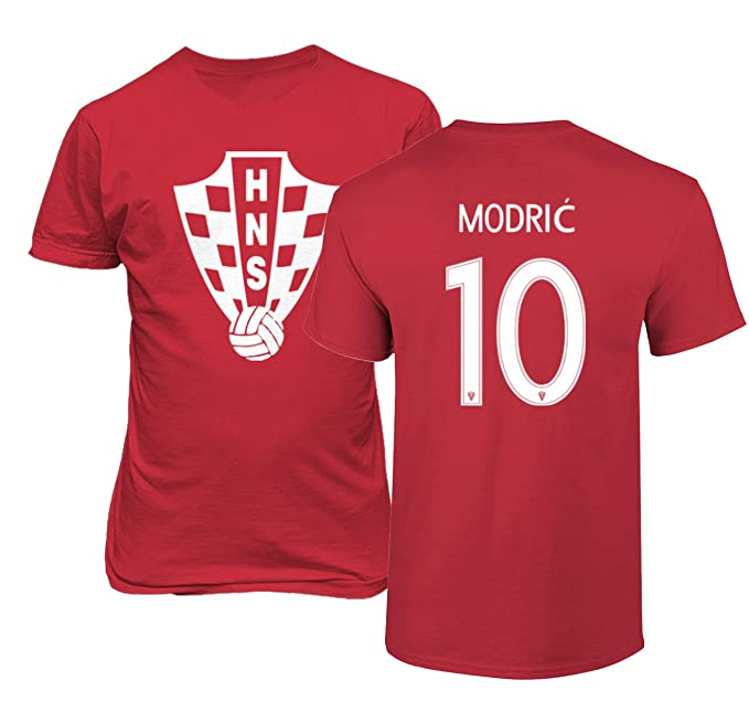 38ed5f3685b Amazon.com   Tcamp Croatia 2018 National Soccer  10 Luka MODRIC World  Championship Men s T-Shirt   Sports   Outdoors