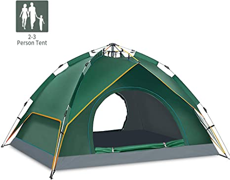 MAANG Camping Tent Automatic Pop Up Tent for 2 3 Person Anti UV Double Layer Dome Tent Ultralight Backpacking Tent with Carry Bag for Beach Hiking