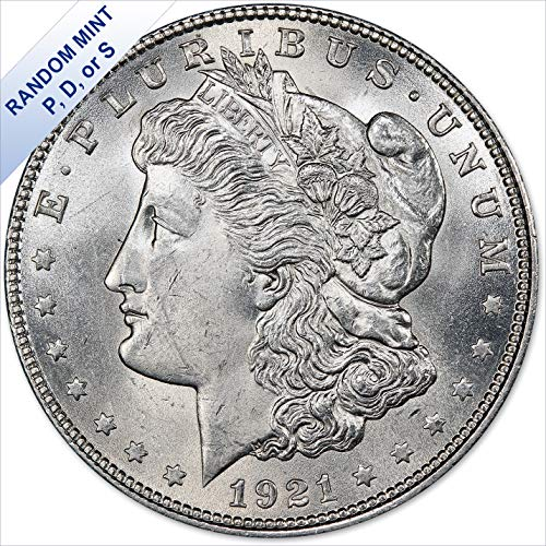 1921 Morgan Silver Dollar (BU) - Random Mint $1 Brilliant Uncirculated
